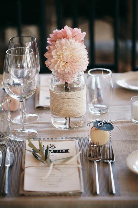 Ideen Tischdeko Hochzeit by 40 Leichte Schnelle Und G 252 Nstige Tischdekoration Ideen