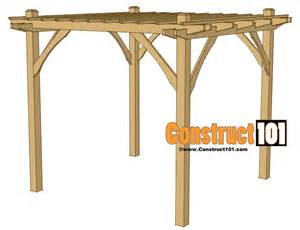 Easy Pergola Plans by Simple Deck Designs And Plans House Design And