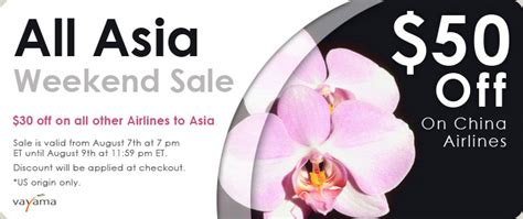 vayama offers 50 discount on airline tickets to asia vayama asia airfare sale