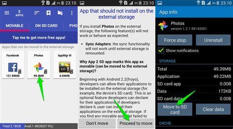 how to move apps on android how to move android apps to sd card ubergizmo
