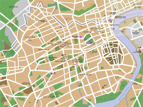 city map shanghai city map guide china city map china province map china attraction map china travel map