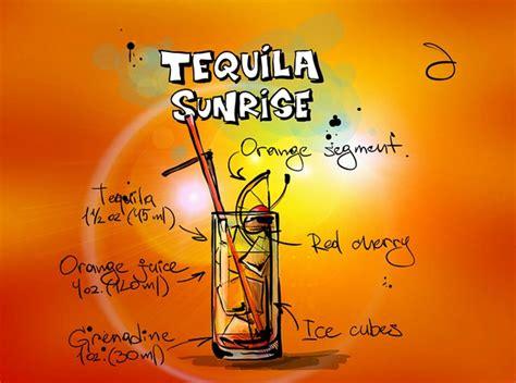tequila sunrise cocktail drink  image  pixabay
