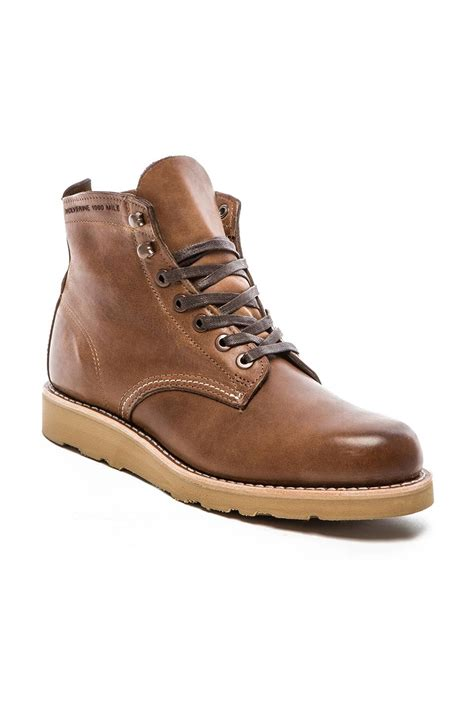 wolverine boots 1000 mile wolverine 1000 mile prestwick 6 quot wedge boot in brown lyst