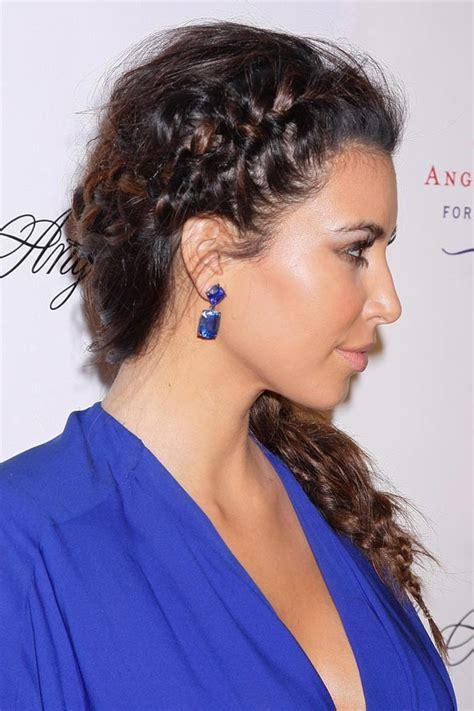 braided hairstyles kim kardashian celebrity braids plaits different hairstyles glamour