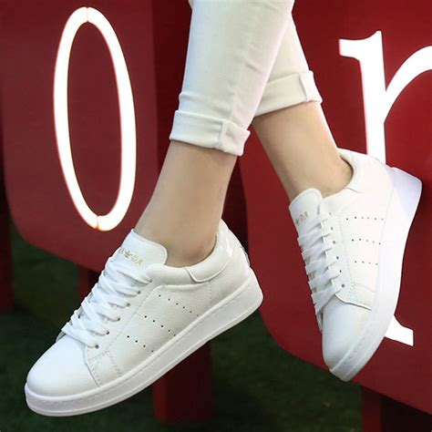2016 new style white s shoes casual single shoes