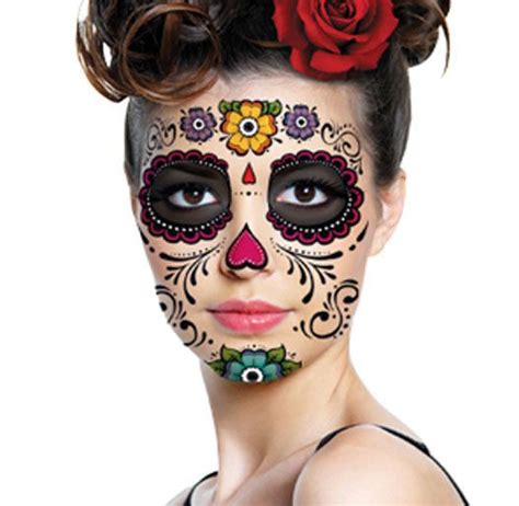 halloween face tattoos pin by amanda joyner on costume ideas