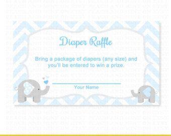 printable diaper raffle tickets elephant pinterest the world s catalog of ideas