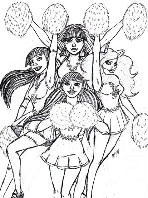 monster high madison fear coloring pages how to draw fear squad