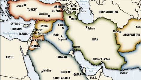 middle east map with capitals map of america and capitals