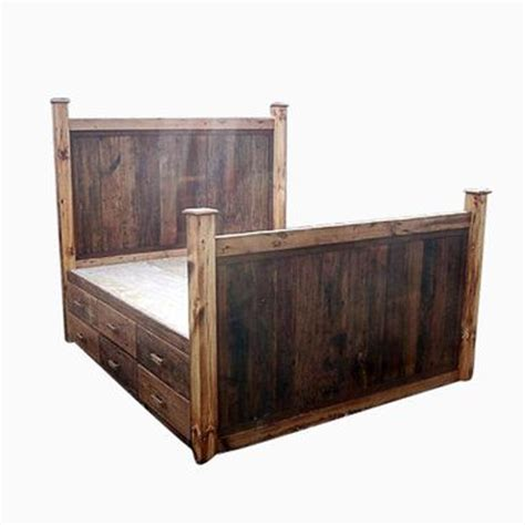 Reclaimed Wood Platform Bed With Storage by Buy A Made 12 Drawer Rustic Reclaimed Wood Platform