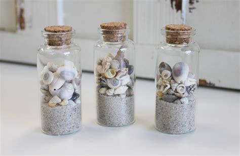 In A Bottle Seashells Sands Home Decor sand seashells bottles favors