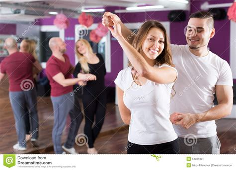 swing dance classes los angeles couples having dancing class stock photo image 51381331