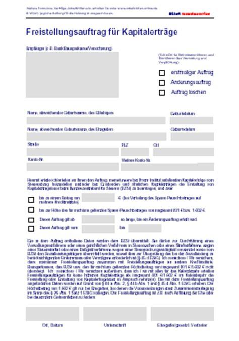 deutsche bank freistellungsauftrag sparerpauschbetrag freistellungsauftrag deutsche bank