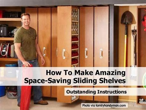 space saving shelves how to make amazing space saving sliding shelves