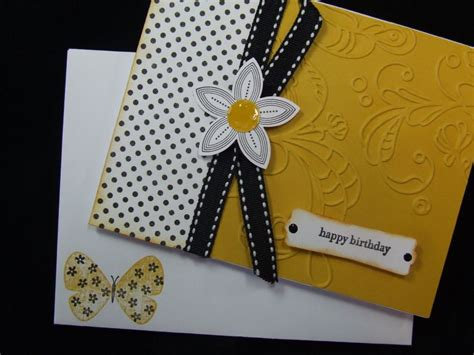 A Handmade - lot handmade happy birthday 2 cards embossed using stin