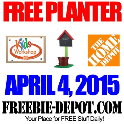free chalkboard planter at home depot free kid workshop