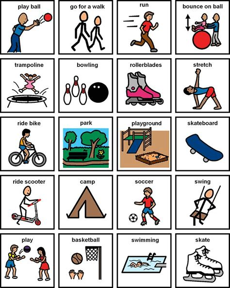 printable visual schedule for toddlers classic yet effective physical activity for kids get