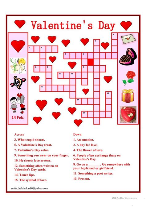 s day puzzle day crossword worksheet free esl printable