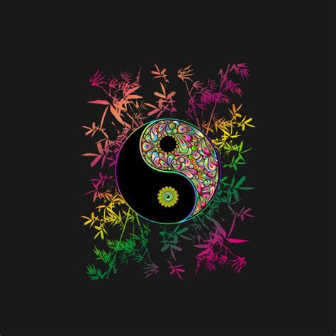 yin yang colors yin yang psychedelic rainbow colors buddhism t shirt