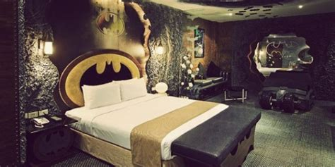 film themed bedroom batman hotel room in taiwan is all you need for a good