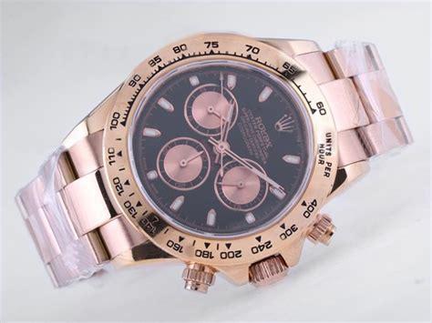 Rolex Black On Two Tone Bracelet A 7750 copy rolex daytona chronograph asia valjoux 7750