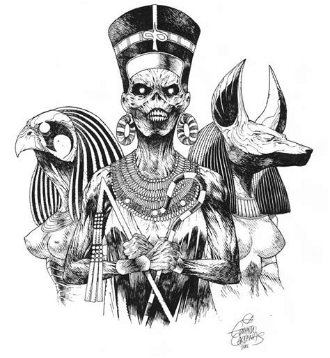 powerslave black and white by eduardocardenas on deviantart