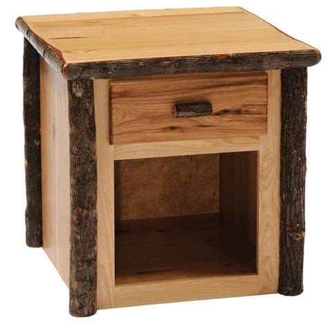Log Side Table Hickory 1 Drawer Log End Table Rustic Maple Contemporary Side Tables And End Tables By