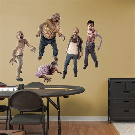 walking dead room decor walkers collection wall decal shop fathead 174 for the walking dead decor
