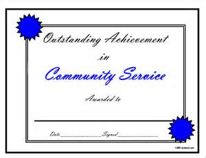 community service certificate template certificates for teachers and language awards and