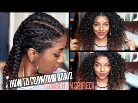 i want to see some natural hairstyles how to cornrow braid natural hair defined curls youtube