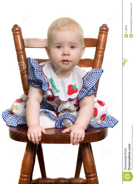 Baby On Chair by Baby On Chair Royalty Free Stock Images Image 4138949