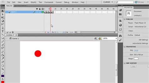 Flash Tutorial Timeline | the flash cs5 timeline keyframes and frames for beginners