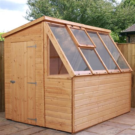 8 X 6 Sheds by 8 X 6 Tongue And Groove Potting Shed Wooden Greenhouse By