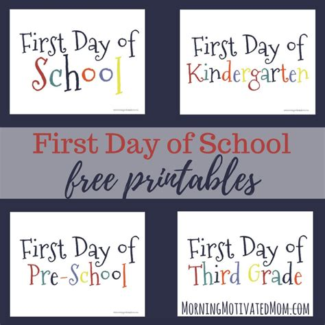 libro schools first day of first day of printables morning motivated mom