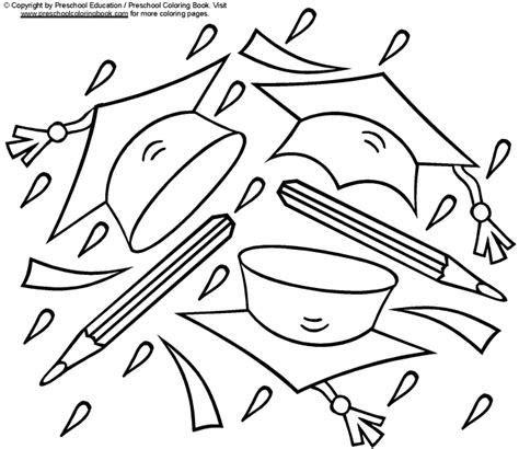 coloring pages for kindergarten graduation preschool graduation coloring pages coloring home