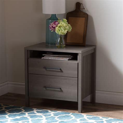 gravity two drawer nightstand south shore gravity 2 drawer nightstand wayfair
