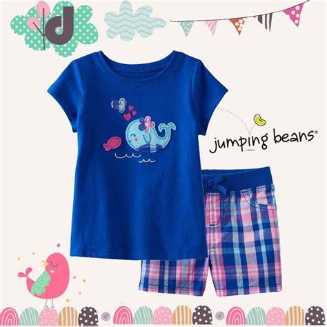 Jual Baju Merk Jumping Beans jual setelan anak perempuan blue whale jumping beans