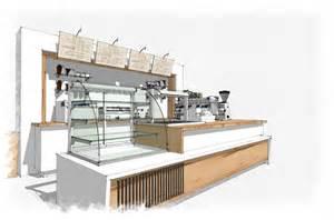 Bar Counter Plan Coffee Bar Sketchup Interior Design Concept Rendering
