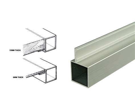 joining aluminium box section 25mm square tube system richardsons shelving racking