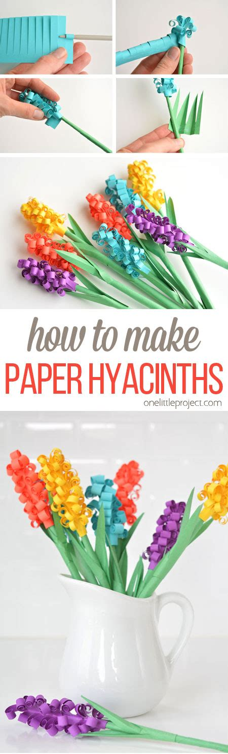 How To Make Handmade Paper At Home - how to make paper hyacinth flowers
