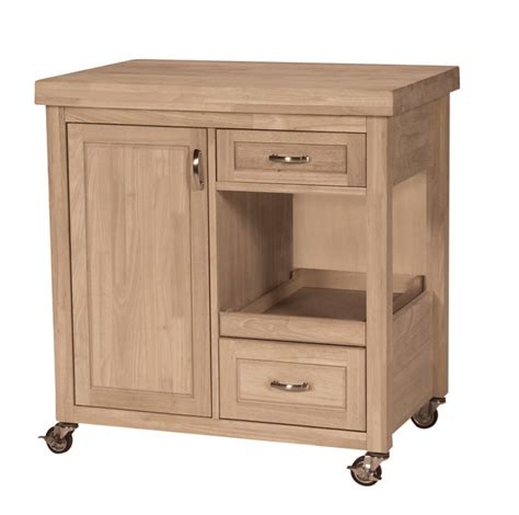 Unfinished Kitchen Island Cabinets Riveting Unfinished Kitchen Islands And Carts On Solid Rubber Caster Wheels With Locks For Small