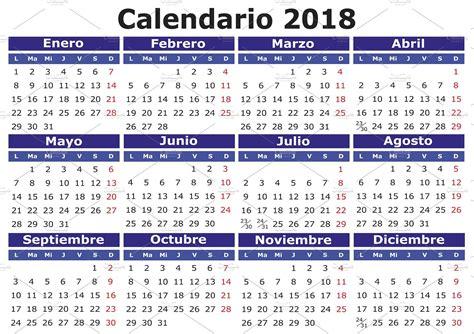 Korea Calendario 2018 2018 Calendar In Illustrations Creative Market