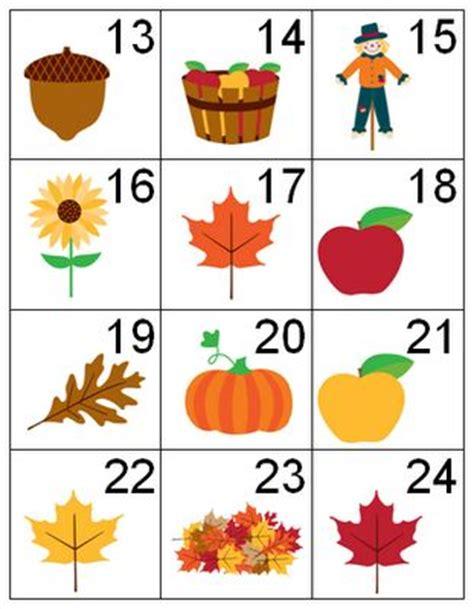 printable leaves with numbers autumn theme calendar pieces calendar pieces pinterest