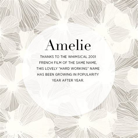 for gorgeous baby names get 10 gorgeous names amelie