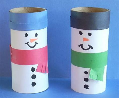 Snowman Toilet Paper Roll Craft - 150 toilet paper roll crafts hative
