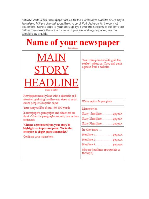 newspaper template 7 free templates in pdf word excel