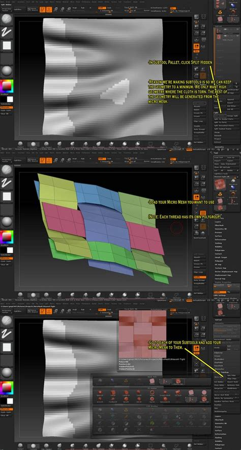 zbrush micromesh tutorial torn cloth tutorial from gmp1993 on zbc after some