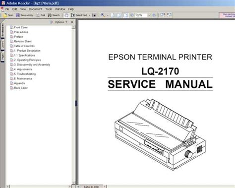 Reset Printer Epson Lq 2170   epson lq 2170 printer service manual service manuals