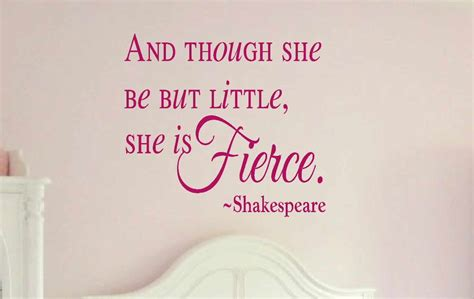 and though he be little and though she be but little she is fierce shakespeare