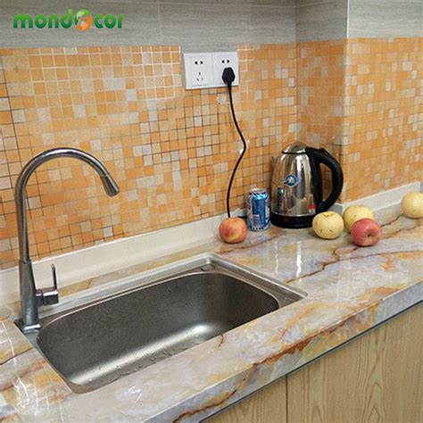 Wallpaper Sticker Frozen 45 Cm X 5 Mtr Wall Stiker 45 1000cm aluminum foil wall stickers kitchen mosaic tile decorative self adhesive